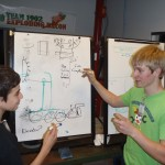 Students discussing options for our 2012 robot